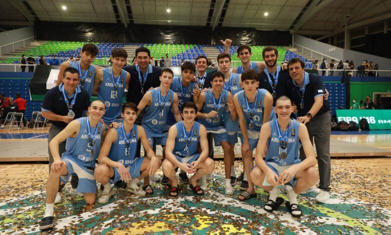 Equipo argentino U-16 dirigido por Leonardo Gutiérrez